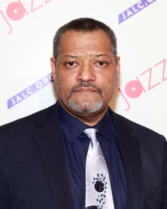 Actor Laurence Fishburne attends the Paul Simon Songbook to Benefit Jazz at Lincoln Center gala concert & dinner at Frederick P. Rose Hall, Jazz at Lincoln Center on April 18, 2012 in New York City.