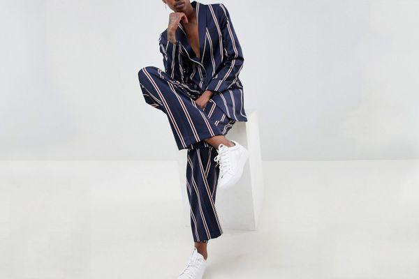 Asos Navy Regatta Stripe Suit