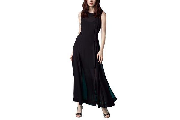 Sleeveless High Neck Tie Flare Dress