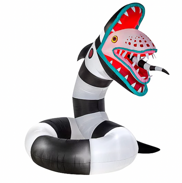 Party City Light-Up Animated Sandworm Inflatable Yard Decoration