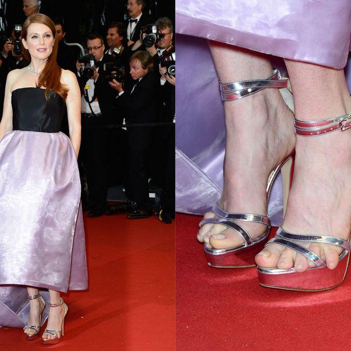 Julianne Moore Explains Her Cannes Foot Crisis