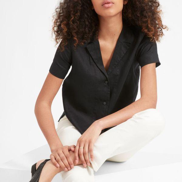 Everlane The Linen Short-Sleeve Notch Shirt