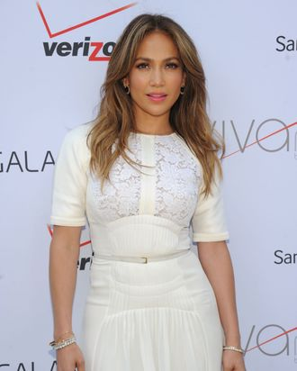 NEW YORK, NY - JULY 26: Jennifer Lopez attends the opening of Viva Movil By Jennifer Lopez flagship store on July 26, 2013 in New York City. (Photo by Jamie McCarthy/Getty Images for Viva Movil)