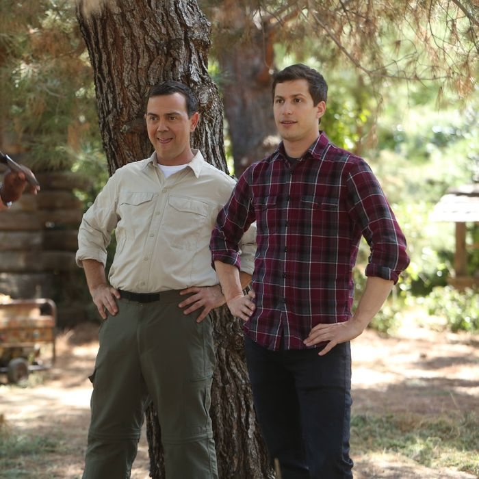 BROOKLYN NINE-NINE: L-R: Terry Crews, Joe Lo Truglio and Andy Samberg in the