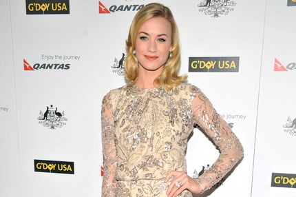Yvonne Strahovski arrives for the 9th Annual G'Day USA Los Angeles Black Tie gala