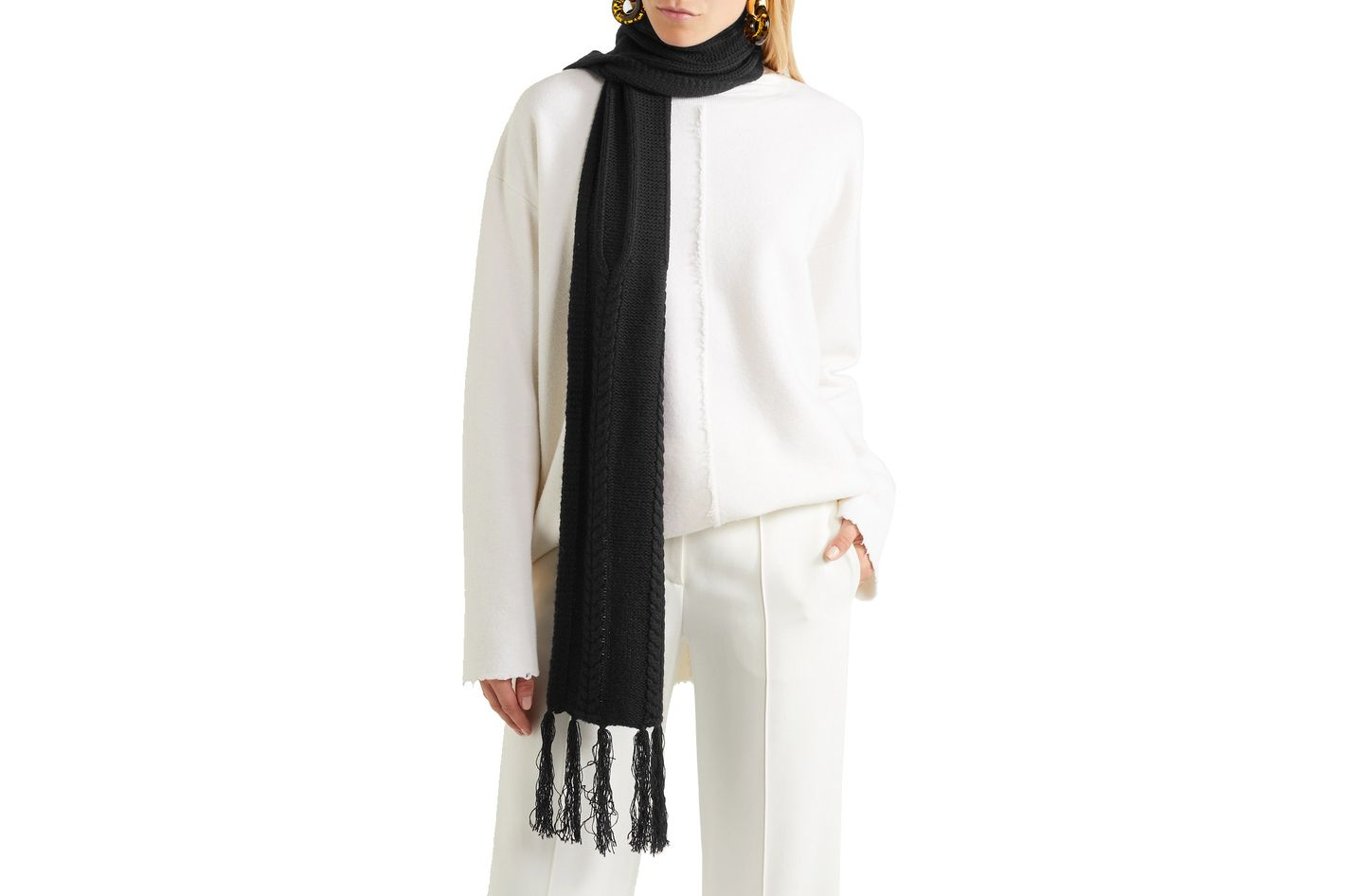 Frame Fringed Wool and Cashmere Scarf