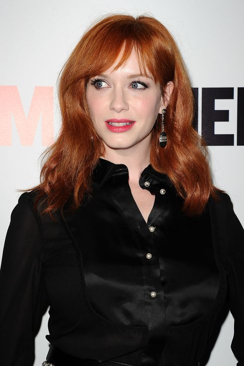 "Actress Christina Hendricks attends the season 7 premiere of ""Mad Men"" at ArcLight Cinemas on April 2, 2014 in Hollywood, California."