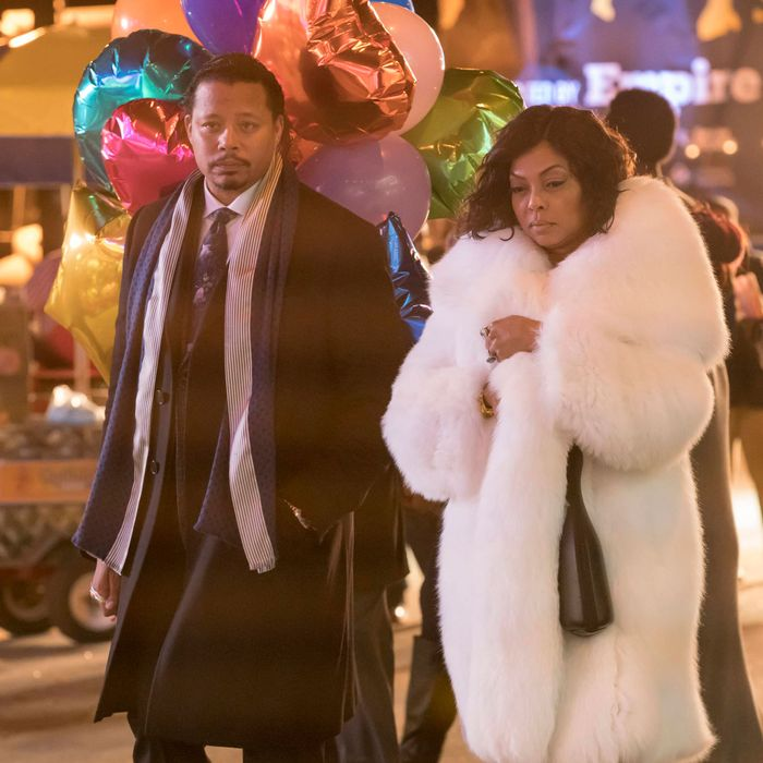 EMPIRE: Pictured L-R: Terrence Howard and Taraji P. Henson in the