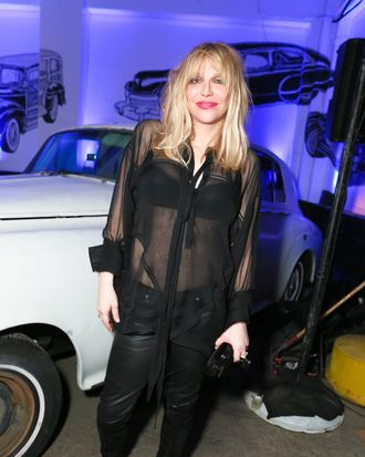 Courtney Love at the Givenchy after-party.