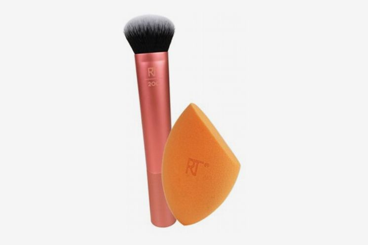 Real Techniques Expert Face Makeup Brush + Miracle Complexion Makeup Blender Sponge