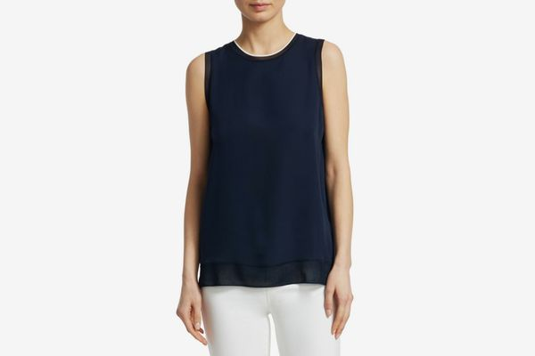 Theory Lewie Silk Top