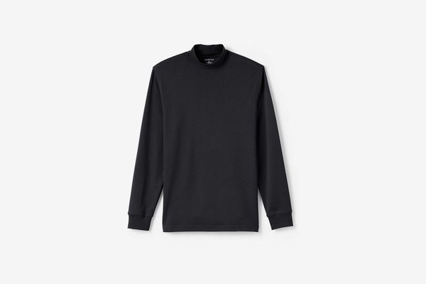 Lands' End Men's Super Soft Supima Mock Turtleneck