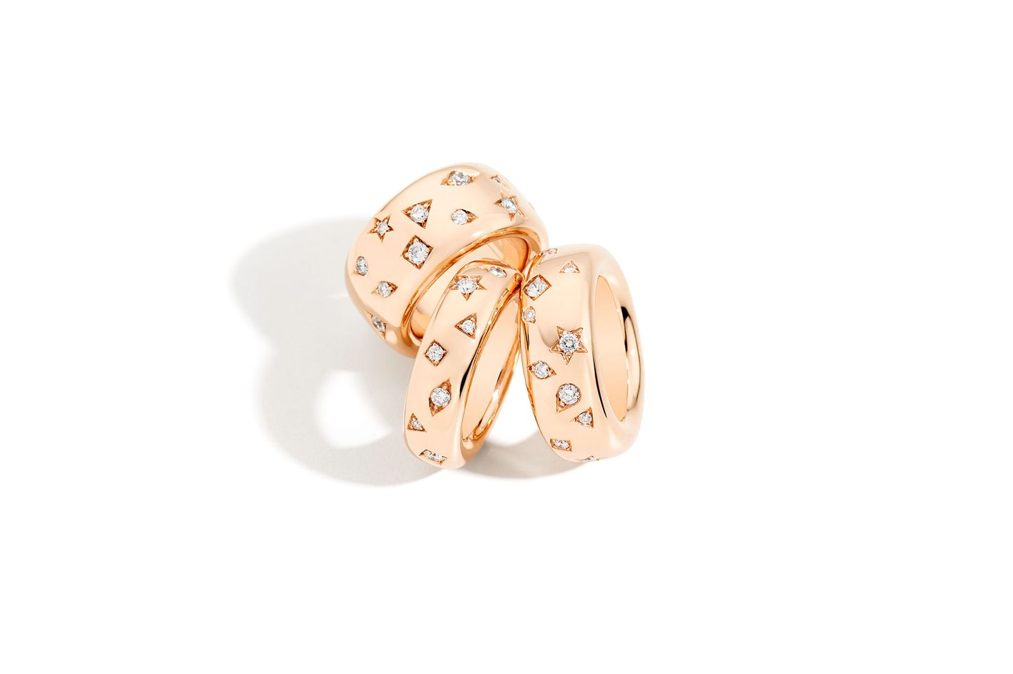 Ring Iconica Rose Gold With Diamonds