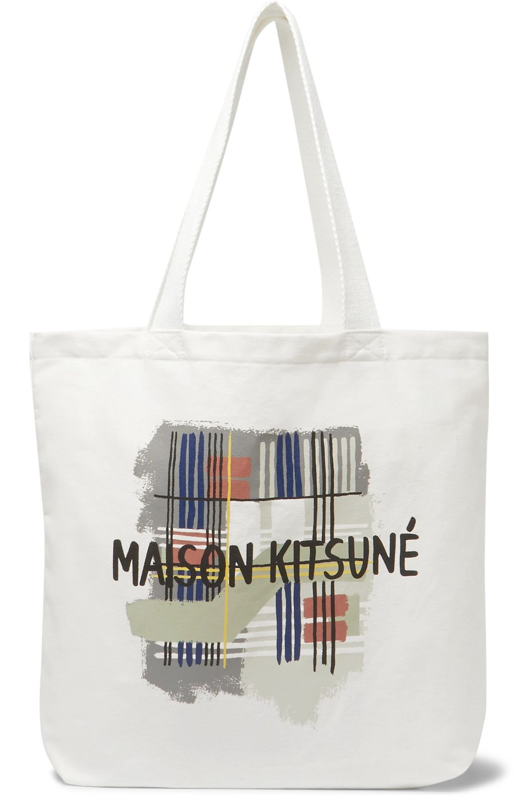 Maison Kitsuné Printed Cotton-Canvas Tote Bag