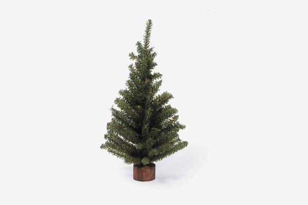 Darice Mini Canadian Pine Tree with Wood Base