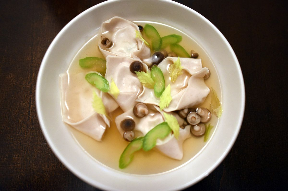 Fung Tu's scallop wonton special.