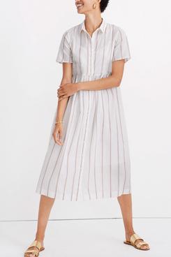 Madewell Striped Midi Shirtdress