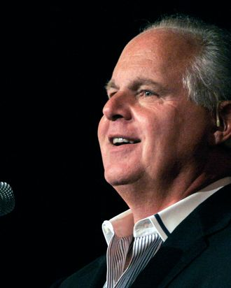 NOVI, MI - MAY 3: Radio talk show host and conservative commentator Rush Limbaugh speaks at
