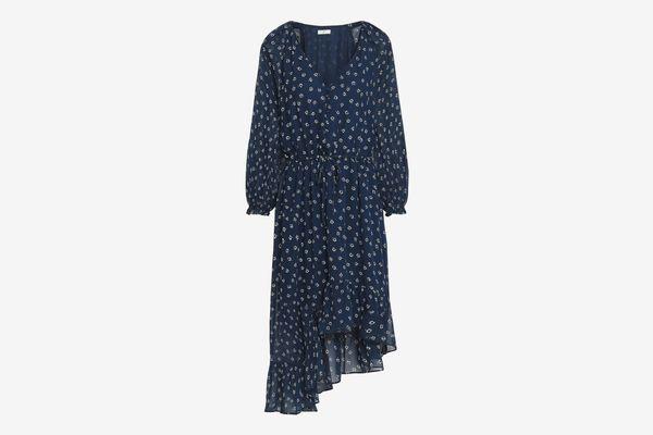 Joie Alithea Asymmetric Floral-Print Dress