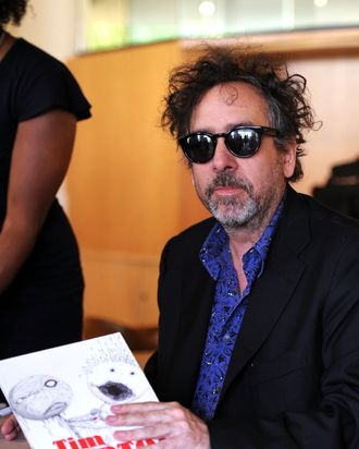 LOS ANGELES, CA - MAY 28: Director Tim Burton signs copies of his Exhibition Catalogue And The