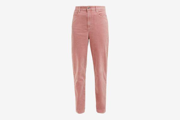 Isabel Marant Etoile Arsy High-Rise Velvet Jeans