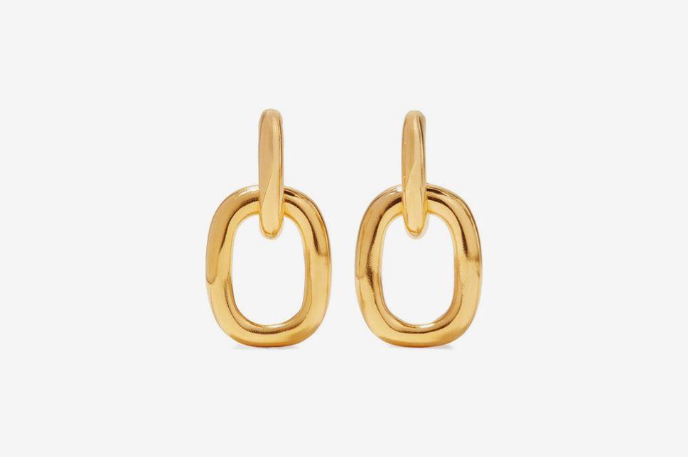 Kenneth Jay Lane Gold Tone Earrings