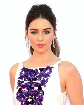 Actress Emilia Clarke arrives at the 64th Annual Primetime Emmy Awards at Nokia Theatre L.A. Live on September 23, 2012 in Los Angeles, California.