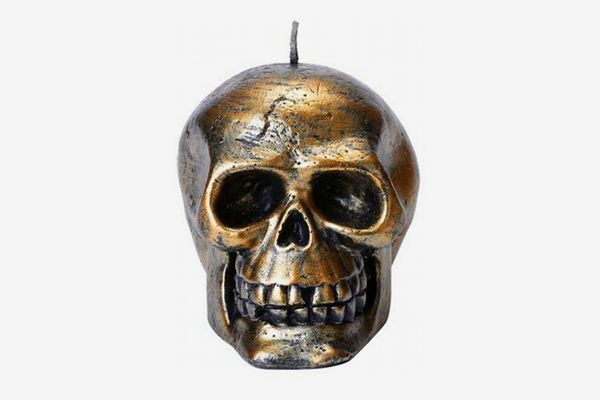 YAMUDA Gold Skull Candle