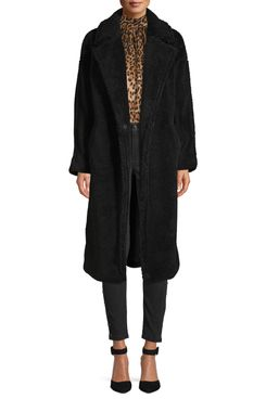 Scoop Vegan Fur Teddy Coat Women's