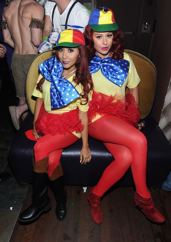 Tweedle Dee and Tweedle Dum. This costume is proof: Propeller hats always make everything better.