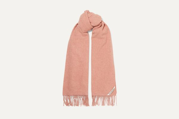 Acne Studios Canada fringed mélange wool scarf