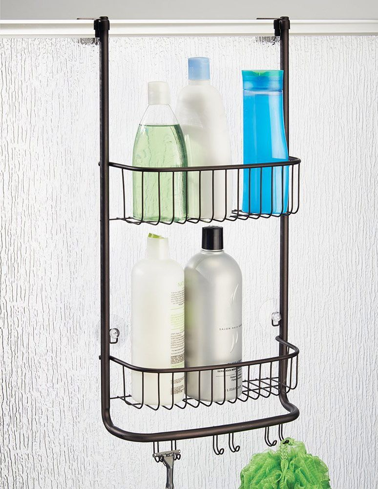 InterDesign York Lyra — Bathroom Shower Caddy Shelves — Bronze