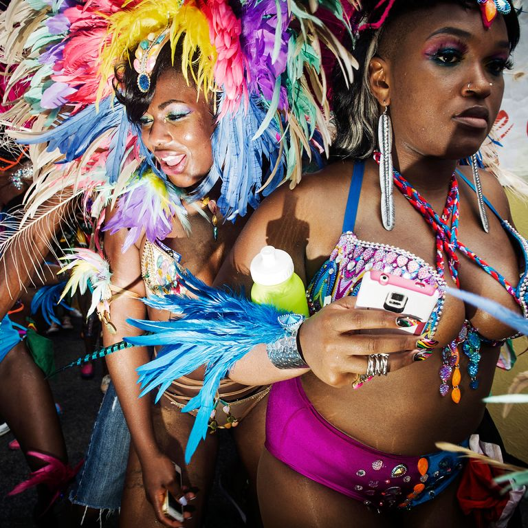 Bedazzled Bikinis and Heavy Plumage at the West Indian Day Parade