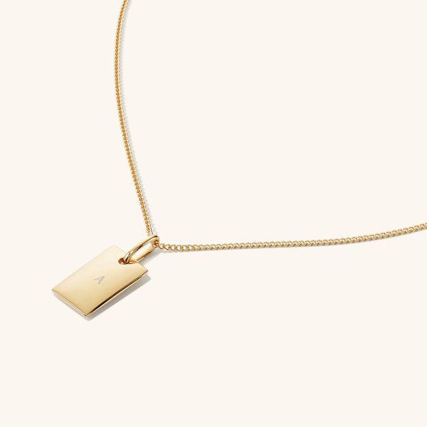 Mejuri Engravable Rectangular Necklace