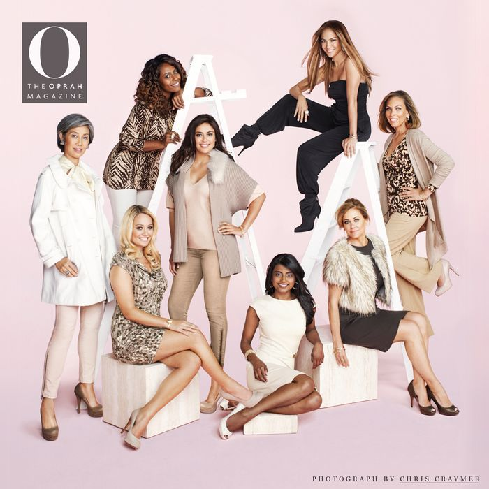 Jennifer Lopez with real women! The line comes out in September.