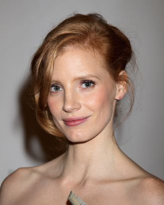 Actress Jessica Chastain attends the UK premiere of The Debt - After Party at The Halcyon Gallery on September 21, 2011 in London.