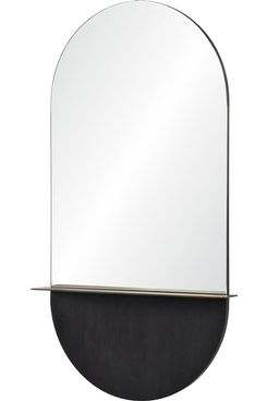 Renwil Lisdarra Glass and Brass Unframed Wall Mirror