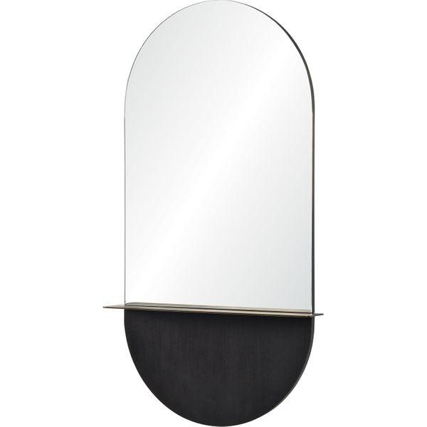 Renwil Lisdarra Glass and Brass Unframed Wall Mirror