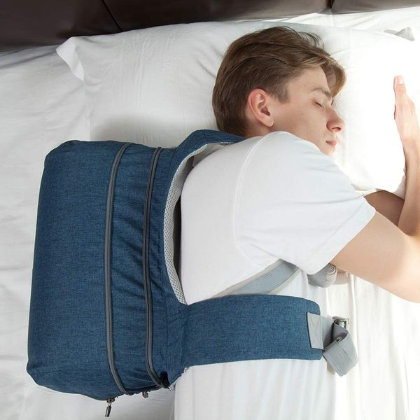WoodyKnows Snoring Relief Side-Sleeping Back Pillow