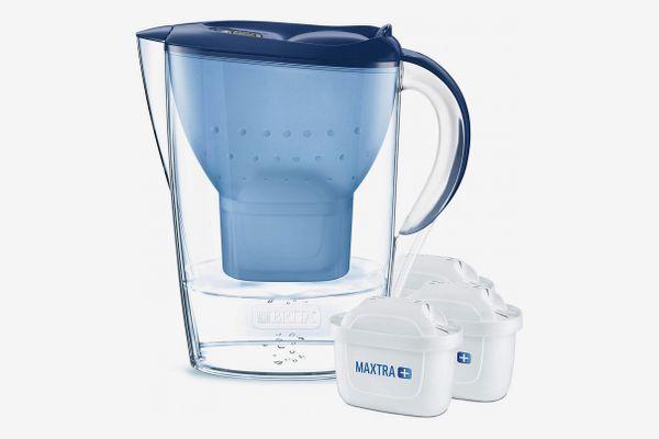 BRITA Marella water filter jug starter pack, includes 3 MAXTRA+