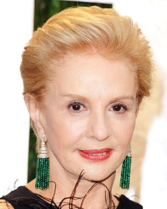 Fashion Designer Carolina Herrera arrives at the 2012 Vanity Fair Oscar Party hosted by Graydon Carter at Sunset Tower on February 26, 2012 in West Hollywood, California.