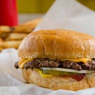 An Edzo's cheeseburger is the right choice.