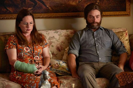 "BASKETS ""Cowboys"" Episode 107 (Airs Thursday, March 3, 10:00 pm/ep) -- Pictured: (l-r) Martha Kelly as Martha, Zach Galifianakis as Chip Baskets. CR: Ben Cohen/FX"