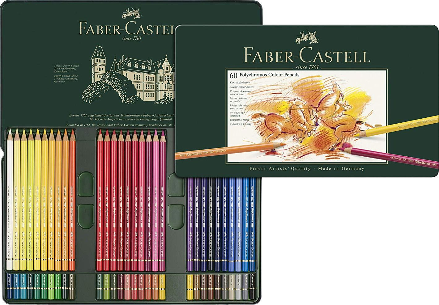 Faber-Castel 110060 Polychromos Colored Pencil Set In Metal Tin