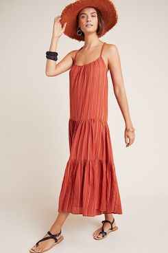 Frye x Anthropologie Alyssa Tiered Maxi Dress