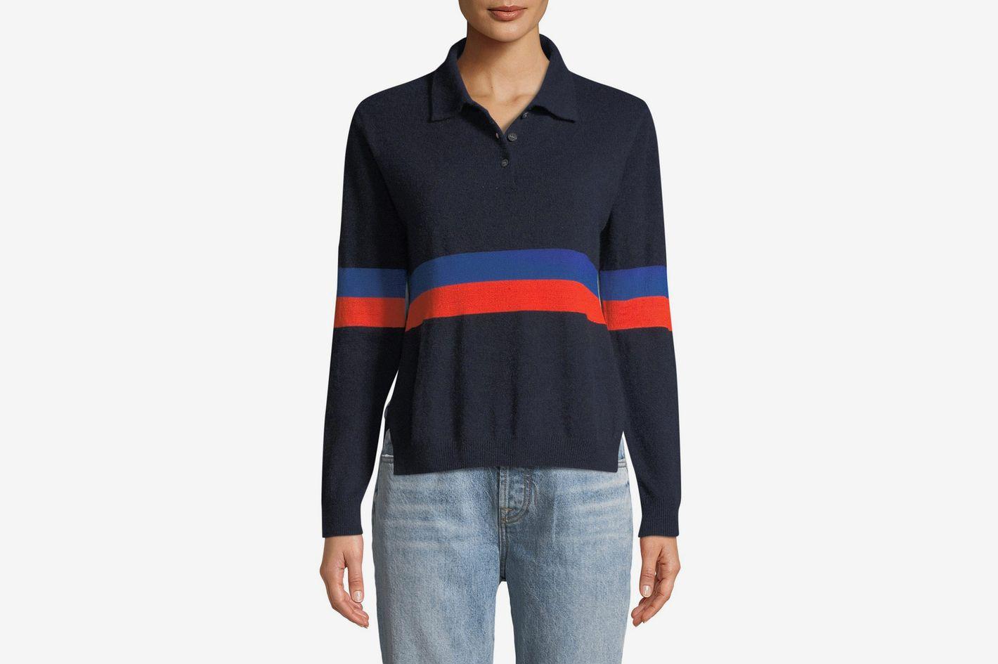 Kule Rainey Long-Sleeve Cashmere Combo Top