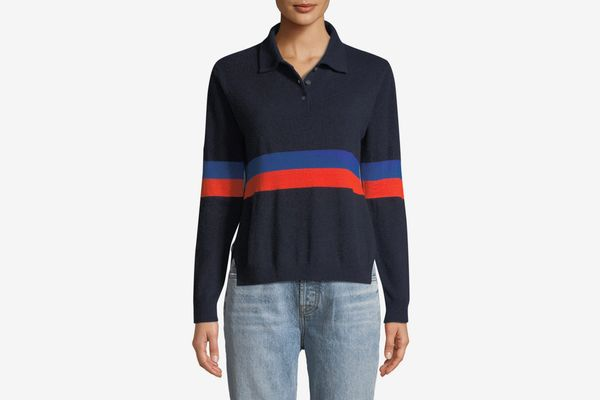 Kule Rainey Long-Sleeve Cashmere Combo Top