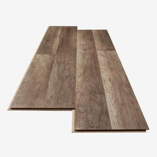 TrafficMaster Grey Oak Laminate Flooring (23.91 sq. ft. / case)