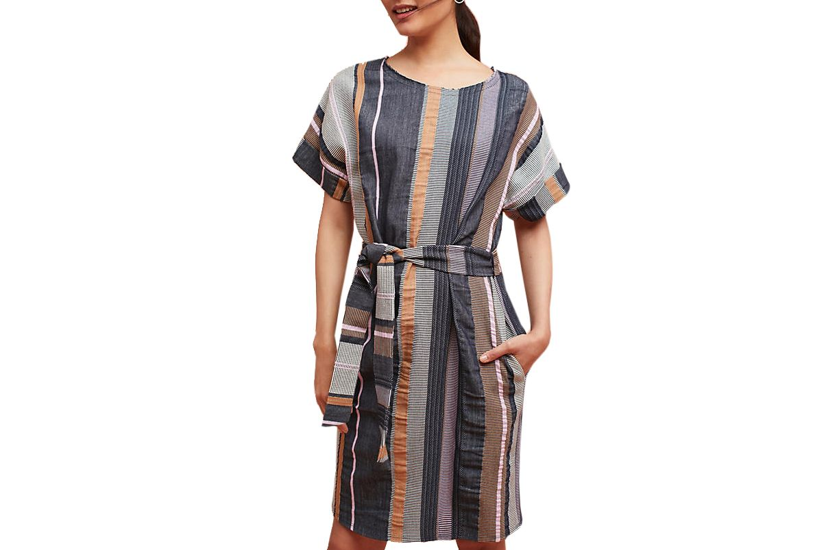 34°N 118°W Austen Striped Tunic Dress