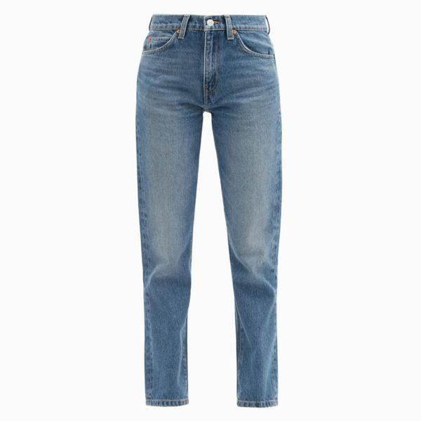 Re/Done Originals '70s High Rise Straight Leg Cropped Jeans